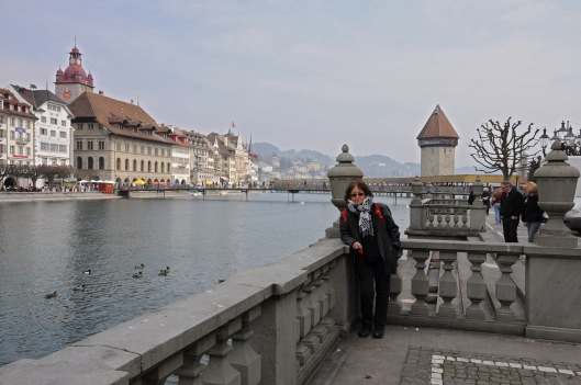 Farida in Lucerne on a chilly day